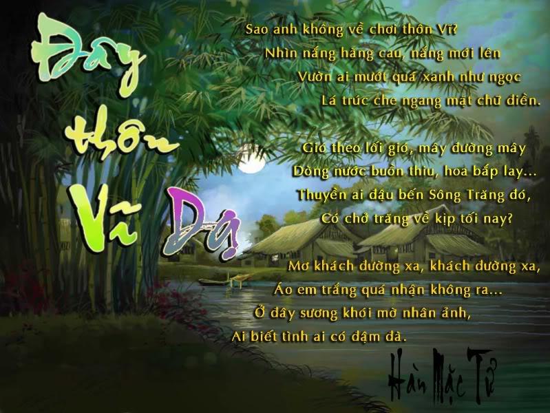 """van mau cam nhan ve bai tho day thon vi da Cảm nhận của em về bài thơ """"Đây thôn Vĩ Dạ"""""""