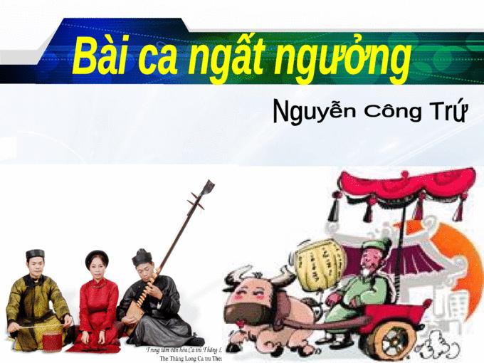 """van mau phan tich bai tho bai ca ngat nguong cua nguyen cong tru Phân tích bài thơ """"Bài ca ngất ngưởng"""" của Nguyễn Công Trứ"""