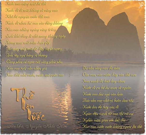 """van mau phan tich bai tho the non nuoc tan da Phân tích bài thơ """"Thề non nước"""" của Tản Đà"""