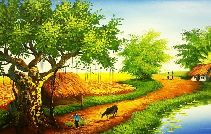 van mau phan tich buc tranh thien nhien trong bai day thon vi da Phân tích bức tranh thiên nhiên trong bài thơ Đây thôn Vĩ Dạ