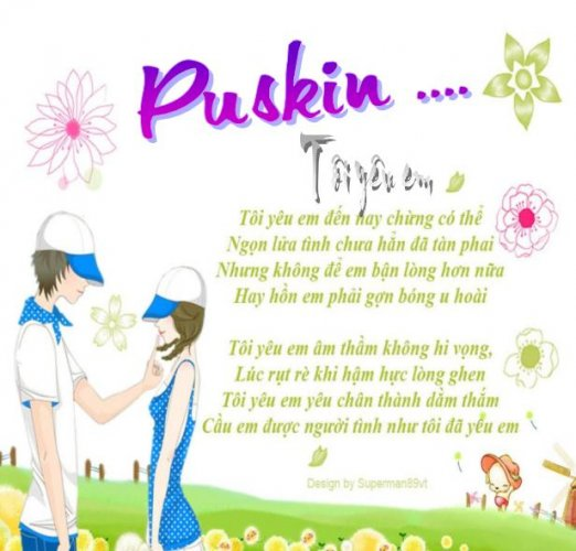 """van mau phan tich tam trang cua nhan vat tru tinh qua bai tho toi yeu em cua Puskin Phân tích tâm trạng của nhân vật trữ tình qua bài thơ """"Tôi yêu em"""" của Puskin"""