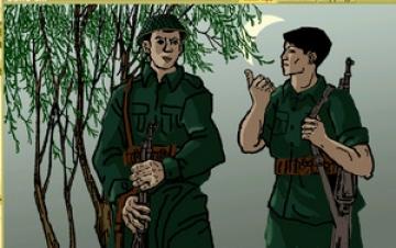 van mau ve dep nguoi linh trong kho cuoi bai tho dong chi Vẻ đẹp của người lính trong khổ thơ cuối bài Đồng Chí của Chính Hữu