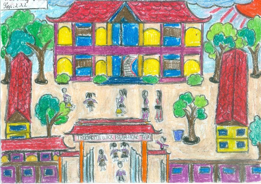 buihonghanh2a2 Tả ngôi trường lớp 2, đoạn văn miêu tả trường học của em